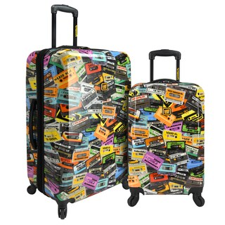 Loudmouth Party Mix 2-Piece Expandable Hardside Spinner Luggage Set