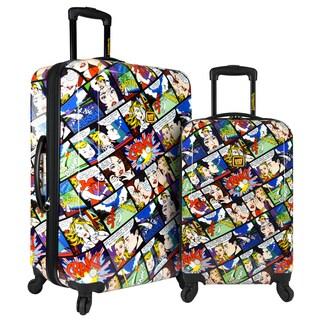 Loudmouth Crak! 2-Piece Expandable Hardside Spinner Luggage Set