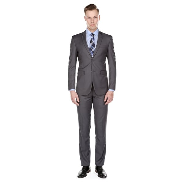 f5525acccb7 Shop Braveman Men s Slim-Fit 2 Piece Suit - On Sale - Free Shipping ...
