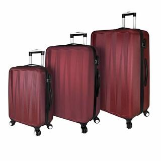 Elite Luggage Hardside 3-Piece Lightweight Spinner Luggage Set