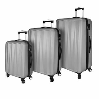 Elite Luggage Hardside 3-Piece Spinner Luggage Set