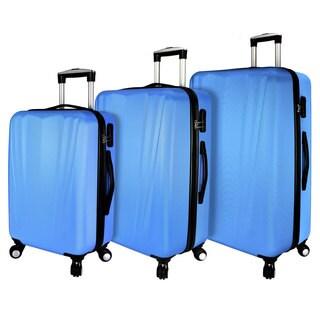 Elite Luggage Hardside 3-Piece Spinner Luggage Set