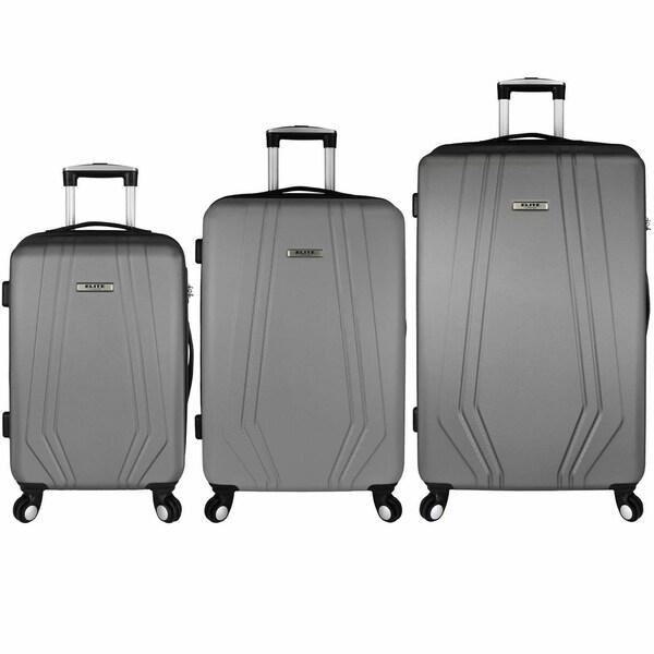 Elite Luggage Paris 3-Piece Hardside Spinner Luggage Set