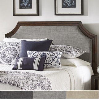 Darren Upholstered Linen Arched Bridge Top Headboard by iNSPIRE Q Classic