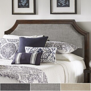 Darren Upholstered Linen Arched Bridge Top Headboard by iNSPIRE Q Classic (More options available)