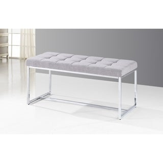 Tufted Upholstered Bench with Metal Frame