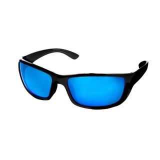 Hot Optix Men's Large Sport Wrap Polarized Mirrored Sunglasses