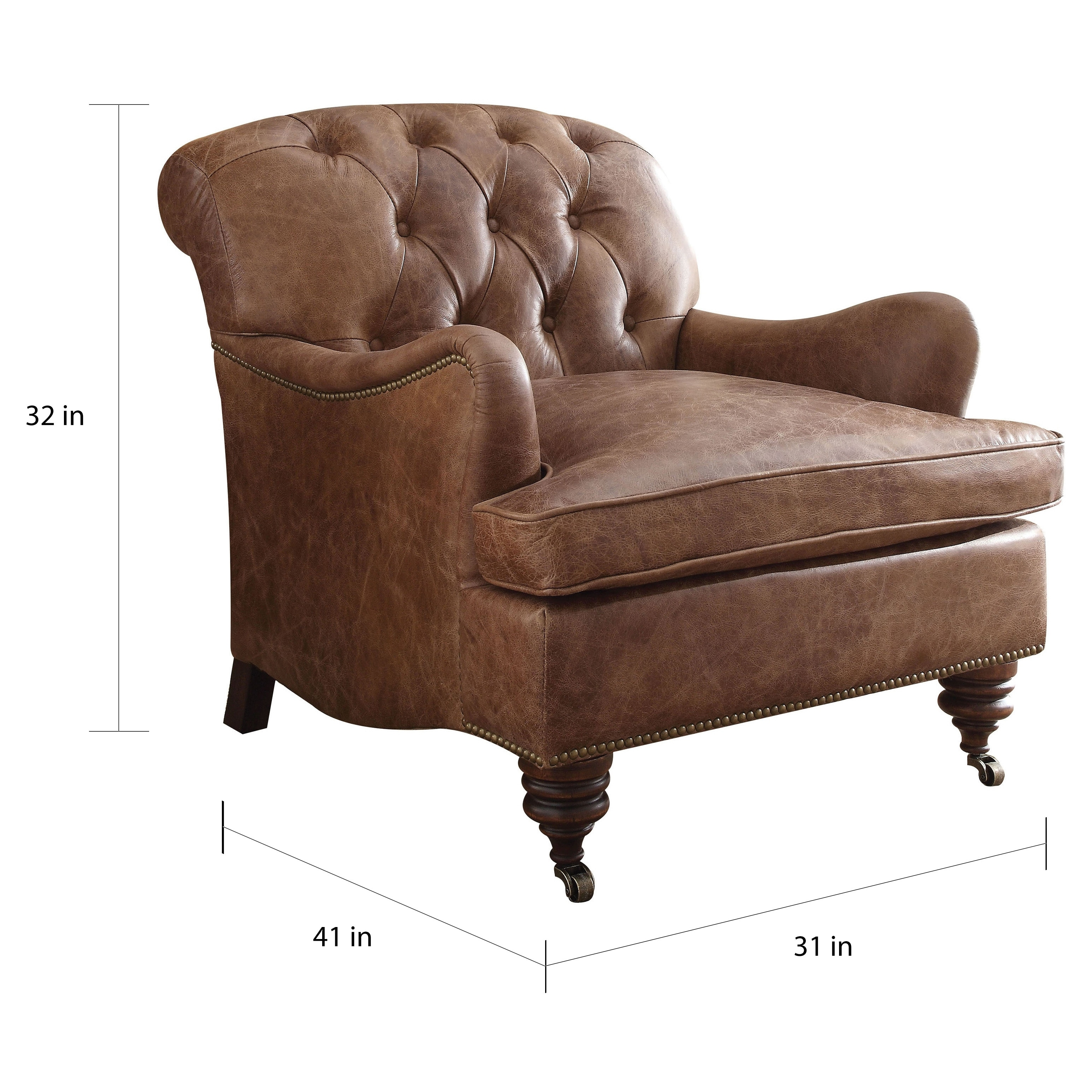 Outstanding Acme Furniture Durham Top Grain Leather Accent Chair Retro Brown Gmtry Best Dining Table And Chair Ideas Images Gmtryco