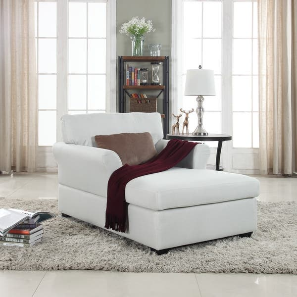 Shop Casual Living Room Chaise Lounge in Classic Linen ...