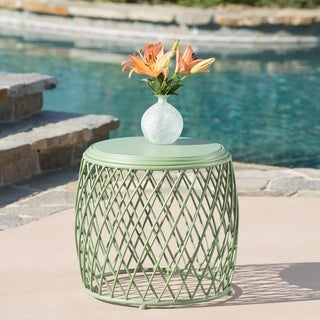 Link to Alamera Outdoor 19-inch Lattice Side Table by Christopher Knight Home Similar Items in Outdoor Coffee & Side Tables