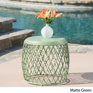 "Alamera Outdoor 19-inch Lattice Side Table by Christopher Knight Home - 17.75""W x 19.75""W x 19.75""D"