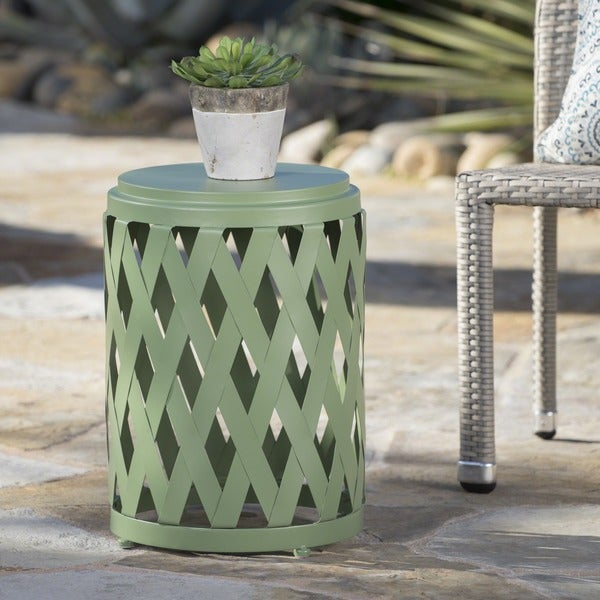 Selen Outdoor 12-inch Lattice Side Table by Christopher Knight Home. Opens flyout.