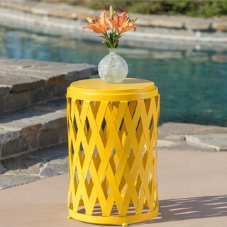 Selen Outdoor 14-inch Lattice Side Table by Christopher Knight Home (Option: Yellow)