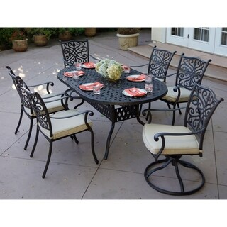 Casablanca 7-Piece Dining Set,42 X 72 Inch Oval,Desert Bronze