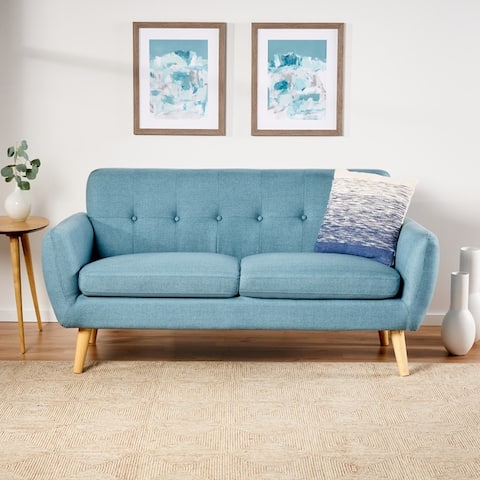 Josephine Mid-century Upholstered Sofa by Christopher Knight Home