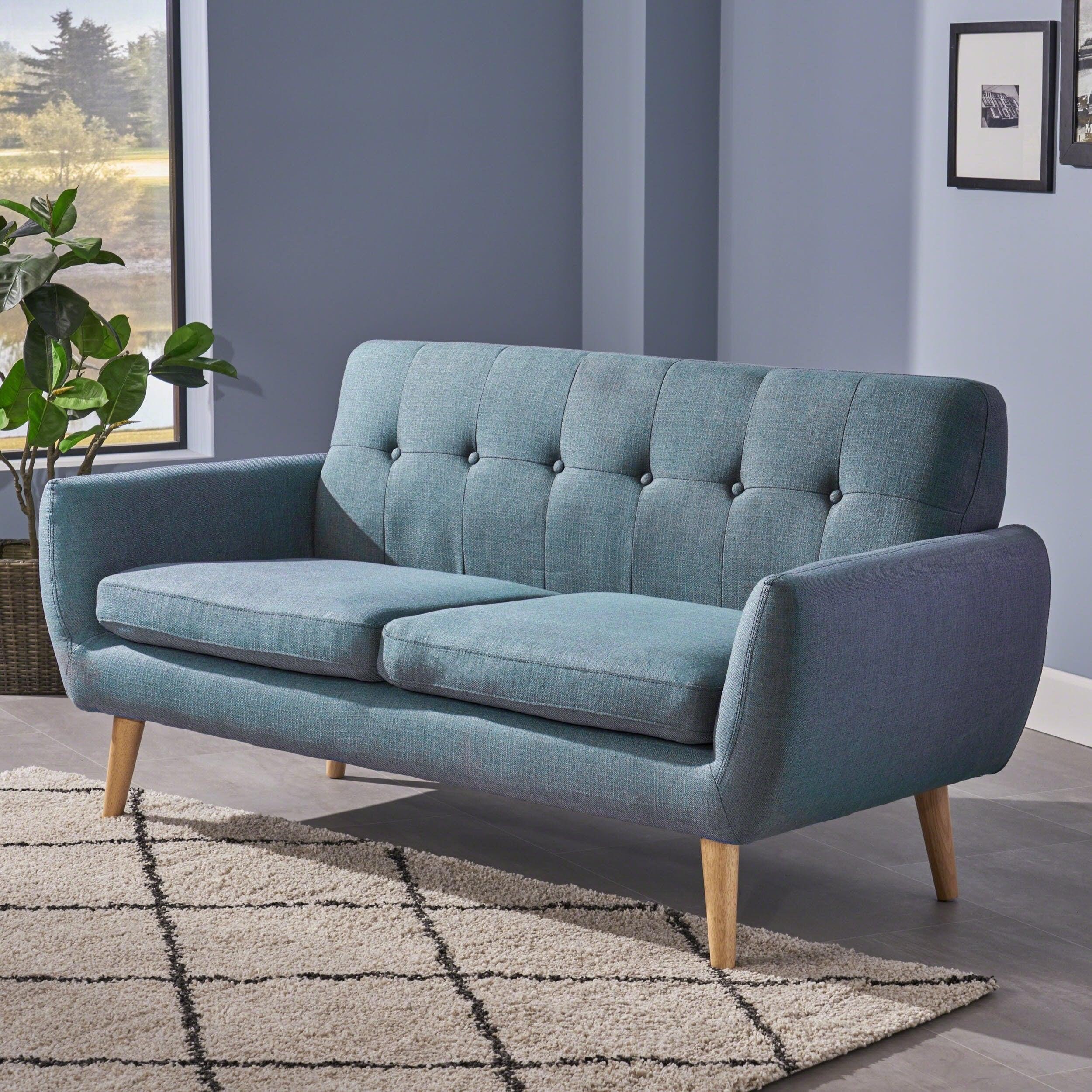 Enjoyable Josephine Mid Century Modern Tufted Fabric Upholstered Sofa By Christopher Knight Home Spiritservingveterans Wood Chair Design Ideas Spiritservingveteransorg