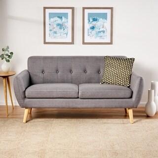 Josephine Mid Century Modern Petite Fabric Sofa by Christopher Knight Home