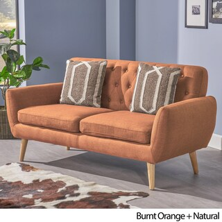 Bernice Mid Century Modern Petite Fabric Sofa by Christopher Knight Home