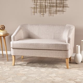 Sheena Mid-century Modern Petite Fabric Loveseat by Christopher Knight Home