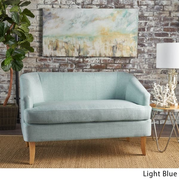 Magnificent Shop Sheena Mid Century Modern Petite Fabric Loveseat By Pabps2019 Chair Design Images Pabps2019Com