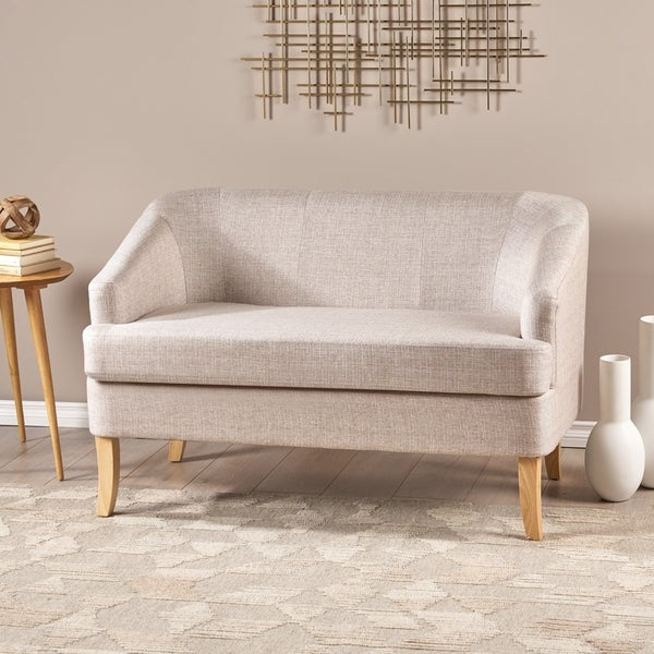 Sheena Mid-century Modern Petite Fabric Loveseat by Christopher Knight Home. Opens flyout.