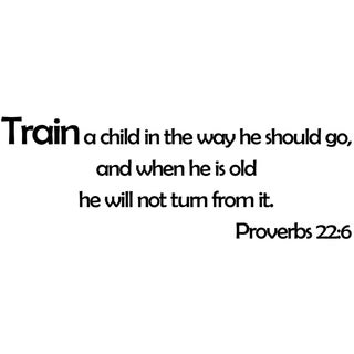 Wall Vinyl Quote Proverbs 22:6 Train A Child In The Way He Should Go Scripture Sticker
