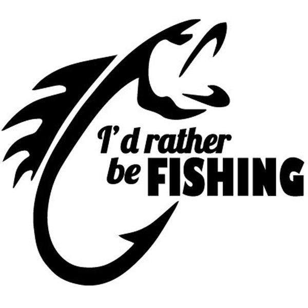 I D Rather Be Fishing Decal Wall Vinyl Free Shipping On