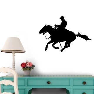 Quarter Horse - Western - Cowboy Peel and Stick Wall Decals (12 in W x 8 in H) Wall Vinyl