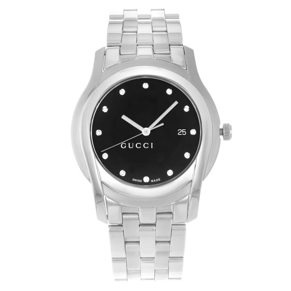 4b7ee4a2cc4 Shop Gucci 5500 XL YA055213 Stainless Steel Quartz Men s Watch ...