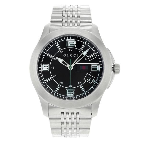 57830cd97 Gucci 126 G - Timeless YA126201 Stainless Steel Quartz Men  x27 s Watch