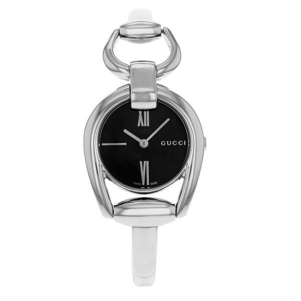 2702f3b3065 Shop Gucci Horsebit Stainless Steel Quartz Ladies Watch - Free Shipping  Today - Overstock - 17669444