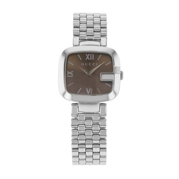 45e70147371 Shop Gucci G-Gucci Stainless Steel Quartz Ladies Watch - Free ...