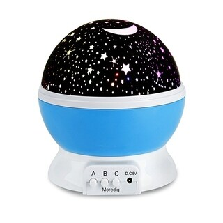 Romantic Rotating Spin Night Light for Children Kids in Bedroom