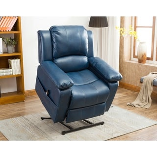 Greyson Living Chadsworth Leather Gel Lift Chair (Option Blue)  sc 1 st  Overstock.com & Blue Recliner Chairs u0026 Rocking Recliners - Shop The Best Deals for ... islam-shia.org