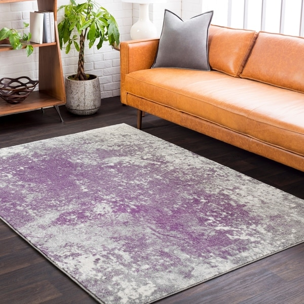 Anah Subtle Purple Abstract Area Rug by Generic