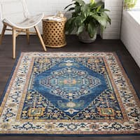 Masteirmont Traditional Oriental Blue Area Rug (7'10 x 10'3)