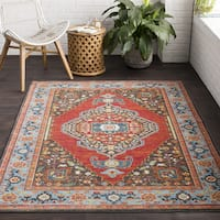 """The Curated Nomad Mariposa Red Traditional Oriental Area Rug - 7'10"""" x 10'3"""""""