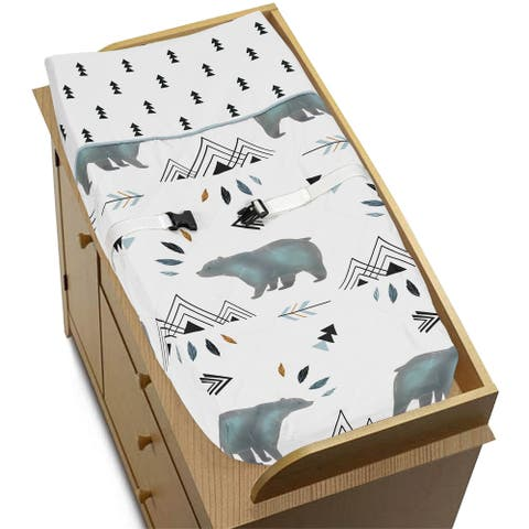 Sweet Jojo Designs Changing Pad Cover for the Bear Mountain Collection