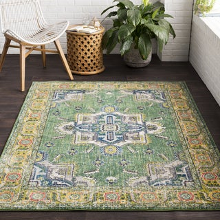 "Vapouria Green/ Multicolor Area Rug (7'10 x 10'3) - 7'10"" x 10'3"""