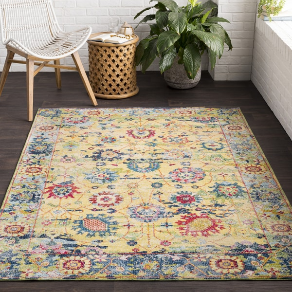 "Viviendue Traditional Distressed Area Rug (5'3 x 7'6) - 5'3"" x 7'6"""
