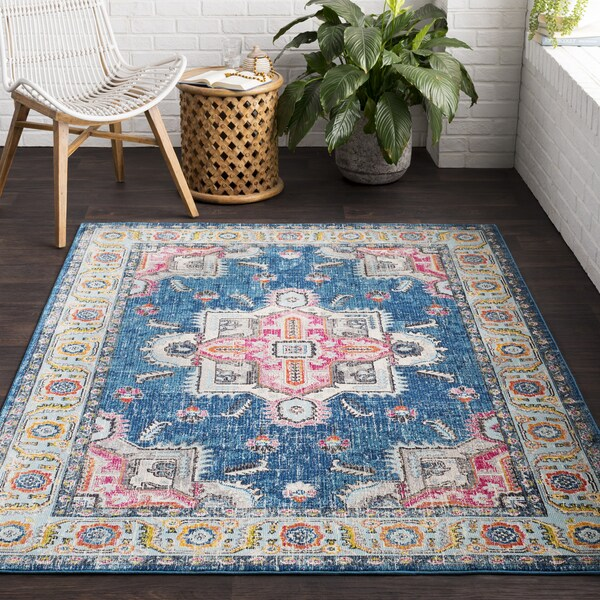 shop vapouria classic traditional blue pink area rug 7 39 10 x 10 39 3 7 39 10 x 10 39 3 on sale. Black Bedroom Furniture Sets. Home Design Ideas
