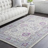 "Huavied Purple Traditional Oriental Area Rug (5'3 x 7'6) - 5'3"" x 7'6"""
