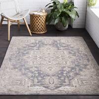 Viceroy Grey/Tan Classic Oriental Area Rug (9' x 12')