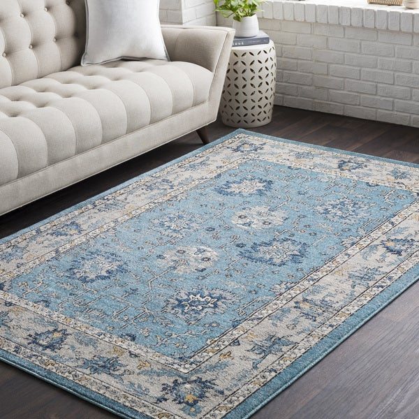 "Huavied Teal Traditional Oriental Area Rug (7'10 x 10'3) - 7'10"" x 10'3"""