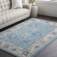 Huavied Teal Traditional Oriental Area Rug (7'10 x 10'3)