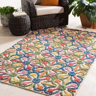 Corinium Colorful Floral Indoor/ Outdoor Area Rug