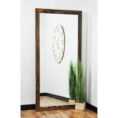 Multi Size BrandtWorks Wood Toned Floor Mirror - Brown