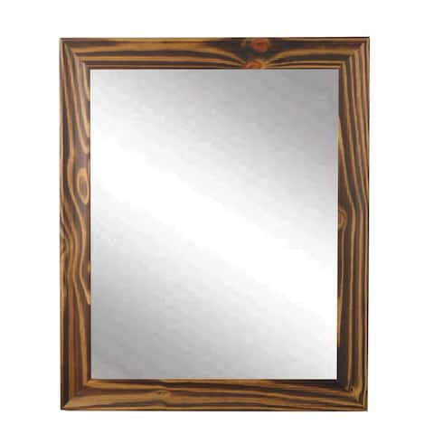 Multi Size BrandtWorks Wood Toned Wall Mirror - Brown