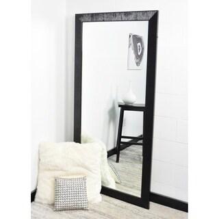 Multi Size BrandtWorks Glossy Black Nordic Floor Mirror