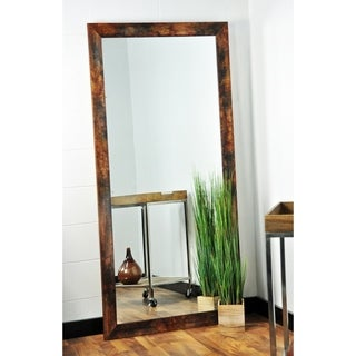 "BrandtWorks Marbled Mahogany Decorative Full Length Floor Mirror - 32"" x 71"""